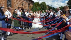 Hochzeit Heiko & Mareike - Spalierstehen